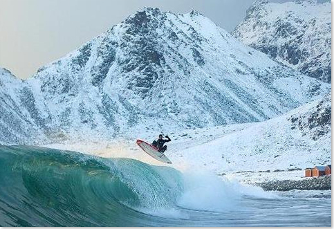 Winter Wetsuit - Surfing In the North Pole
