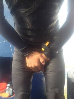 smelling wetsuit piss