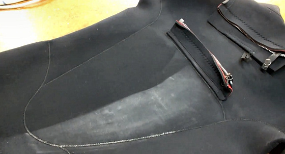 remove wax from your wetsuit